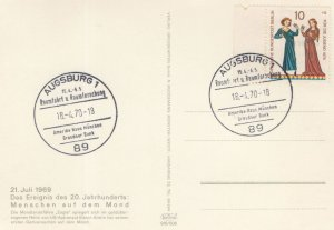 Augsburg First Men On The Moon Space Travel FDC German Postcard