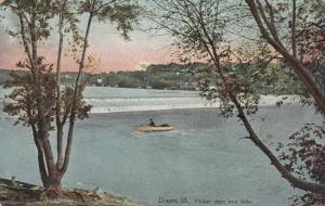 DIXON,  Illinois , 1900-10s ; Power dam and falls
