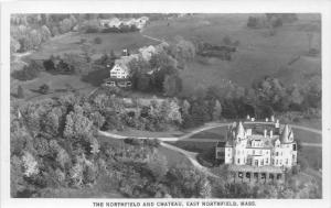 massachusetts  East Northfield,   Aerial view of Chateau