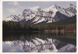 Herbert Lake, Mt. Temple, Banff National Park, BANFF, Alberta, Canada, 50-70's