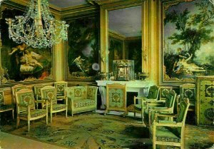 France Chateau de Fontainebleau Second Drawing Room Furniture Postcard