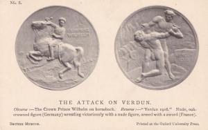 Grand Admiral Von Tirpitz King Neptune German WW1 Military Medal War Postcard