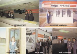 NASHVILLE, Tennessee, 1950-1970's; Budget Car And Truck Rental, Multiple Views
