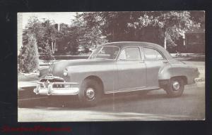 1952 PONTIAC CHIEFTAIN SEDAN VINTAGE CAR DEALER ADVERTISING POSTCARD