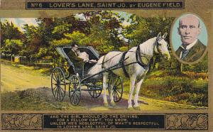 Eugene Field Lover's Lane St Jo Card No 6