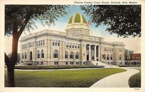 Roswell New Mexico~Chaves County Court House~1920s Postcard