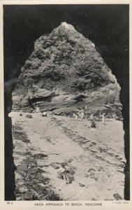 RP: Arch Approach to Beach , FISHCOMBE , England , 1930s ; TUCK
