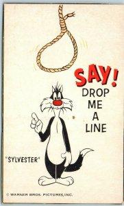Vintage WARNER BROS. Cartoon Character Postcard SYLVESTER c1960s *TRIMMED Unused
