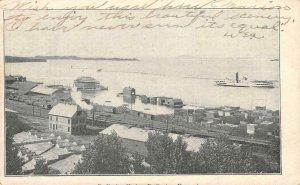 BURLINGTON HARBOR Burlington, Vermont Private Mailing Card 1905 Vintage Postcard