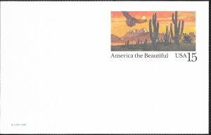 US UX127 Desert Scene with Eagle. Unused.