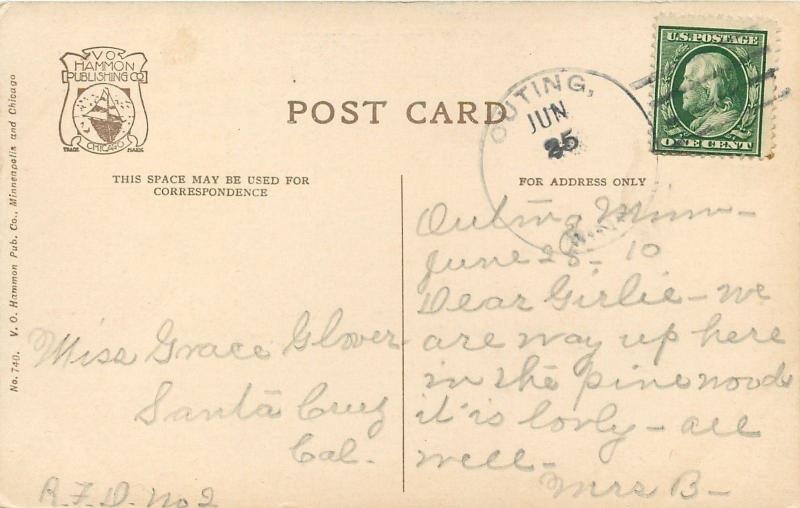 Frontenac MN~Lake Pepin~Camp Villa Maria~Canoeing in Twos & Threes~1960~Postcard