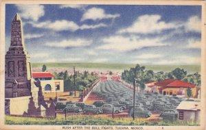 TIJUANA , Mexico , PU-1946 ; Traffic after the Bull Fights