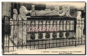 Old Postcard Nantes Tomb of Francis II Duke of Burgundy in the cathedral