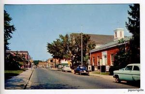 Pocomoke City MD Esso Street View Old Cars Postcard