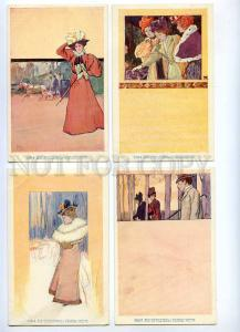 189345 Ladies by TK Set 10 cards ART NOUVEAU PHILIPP & KRAMER