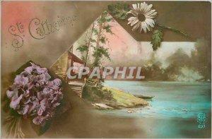 Old Postcard St. Catherine Flowers