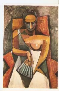 Postal 045649 : Picasso. Woman with a fan