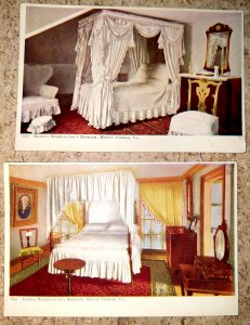 George and Martha Washington Bedroom postcards # 502 & #503