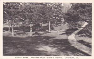 Virginia Lynchburg Campus Walks Randolph Macon Womans College Albertype