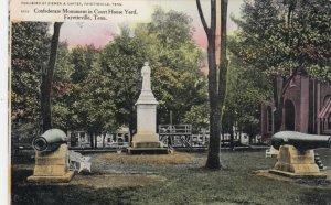 FAYETTEVILLE , North Carolina , 1908  ; CSA Monument , Court House Yard