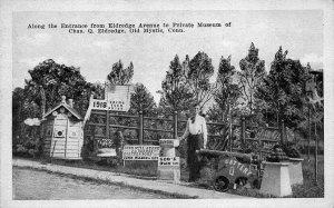 Mystic CT Private Museum of Charles Eldredge Postcard