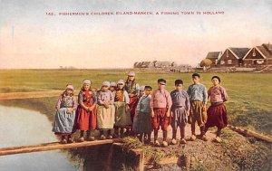 Fishermen's Children Marken Holland Unused