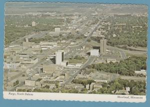 Fargo, North Dakota Postcard Aerial View Moorhead, Minnesota