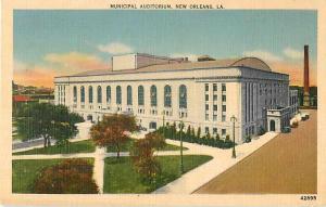 Municipal Auditorium New Orleans, Louisiana LA Linen
