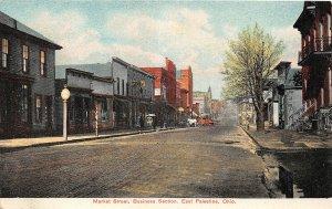 G32/ East Palestine Ohio Postcard c1910 Market Business Stores Homes