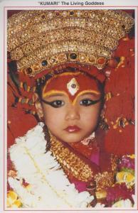 Kumari The Indian Hindu Living Goddess Postcard