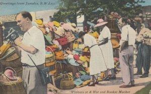 JAMAICA , B.W.I. , 30-40s ; Hat & Basket Market