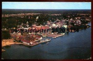 5134 - PRESCOTT Ontario Postcard 1978 Aerial View