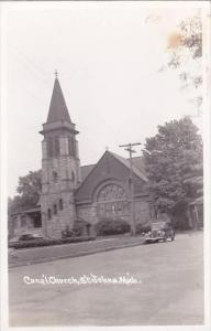 Michigan St Johns Church Real Photo RPPC