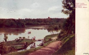 COZY LAKE AND JAPANESE GARDEN ST. PAUL, MN 1911
