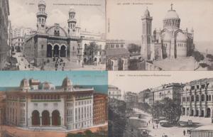 Alger Notre Dame 4x Aerial La Medersa Postcard