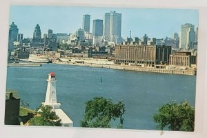 Vintage Postcard: St. Helen's Island- Lighthouse, cruiseship, water