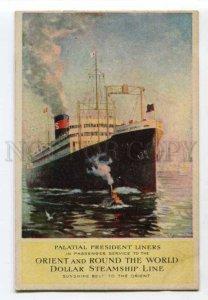 400790 Dollar Steamship Line ship President Polk ADVERTISING
