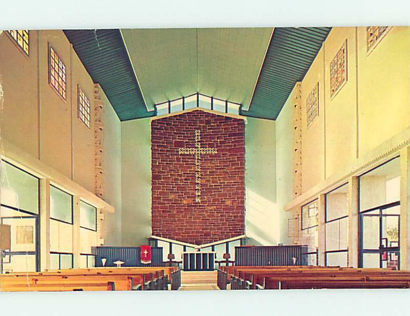 Unused Pre-1980 CHURCH SCENE Alice Springs AUSTRALIA hs6917