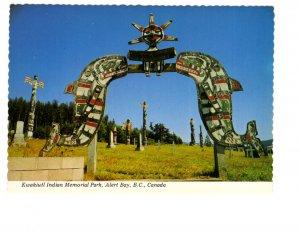 Kwakiutl  Memorial Park, Alert Bay, British Columbia, Totem Poles