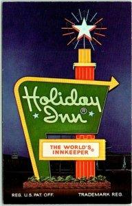 IOWA CITY, Iowa Postcard HOLIDAY INN MOTEL Interstate 80 Roadside c1960s Unused
