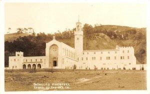 RPPC CARMELITE MONASTERY Carmel-By-The-Sea, California ca 1940s Vintage Postcard