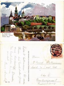 CPA AK KRAKOW Wawel Chateau royal POLAND (288587)