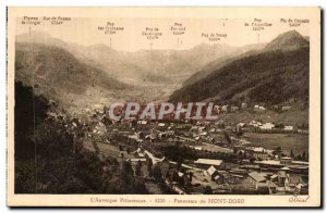 Old Postcard L & # picturesque panorama of mountains 39Auvergne dore