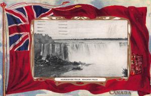 Horseshoe Falls, Niagara Falls, Canada, Early Patriotic Postcard, Used in 1910