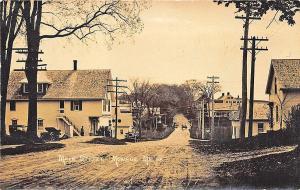 Monroe ME Main Street Gasolene Old Cars Palmer's Store Postcard