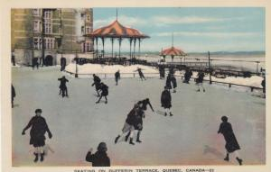 Ice Skating . Dufferin Terrace , QUEBEC , Canada , 1930s