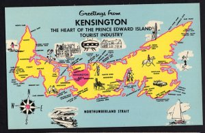 PEI MAP KENSINGTON The Heart of the Prince Edward Island Tourist Industry Chrome