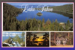 Postcard 1998 Multi Views of Lake Tahoe, Nevada, California, USA, J53