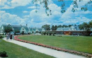 Genoa City Wisconsin~Honey Bear Farm~Ladies Stroll Towards Barns~1954 Postcard