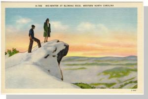 Western, NC Postcard, Mid-Winter At Blowing Rock, Near Mint!